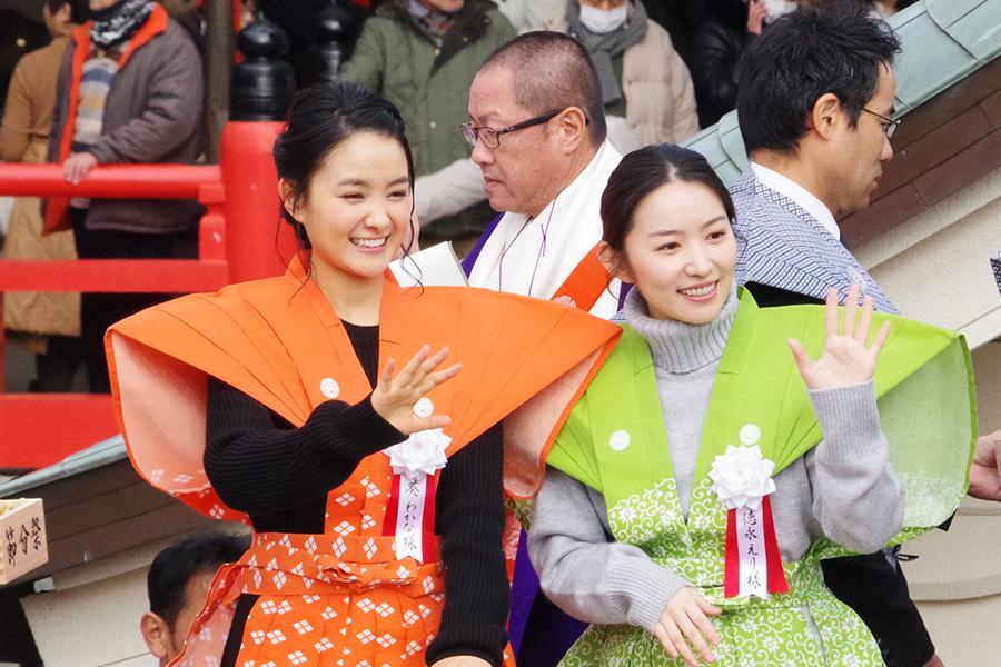 成田山の節分祭、葵わかなと徳永えり