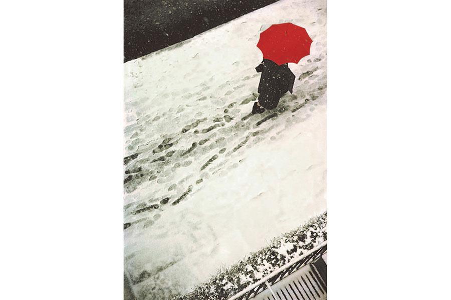 《足跡》1950年頃 ソール・ライター財団蔵 ©Saul Leiter Foundation