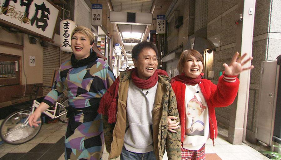 浜田のことをはるな愛は「まーくん」、ナジャは「ハマー」と呼び、超異色な3人でラブラブデート