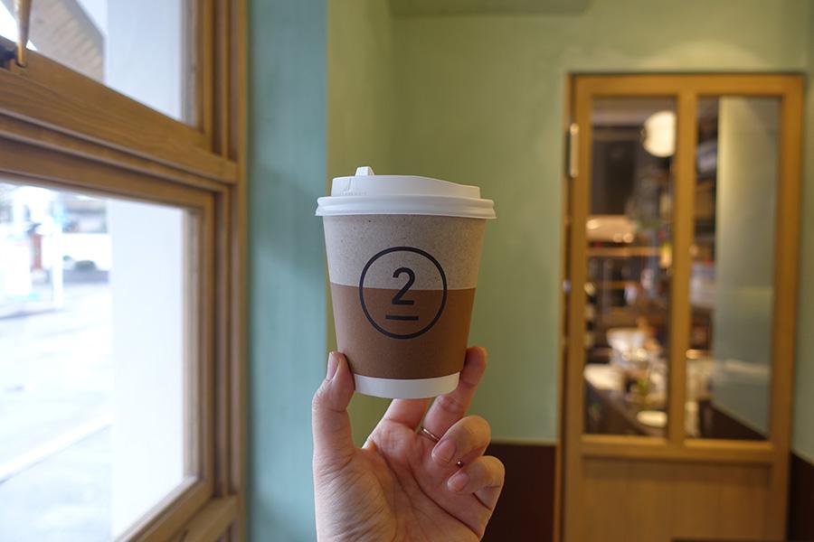 コーヒーは豆を選ぶことができ、350円〜