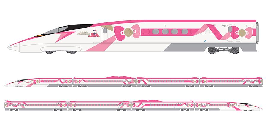 「ハローキティ新幹線」外装側面
