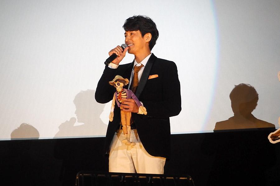 映画『リメンバー・ミー』特別上映会に登場した藤木直人(5日・大阪市内)