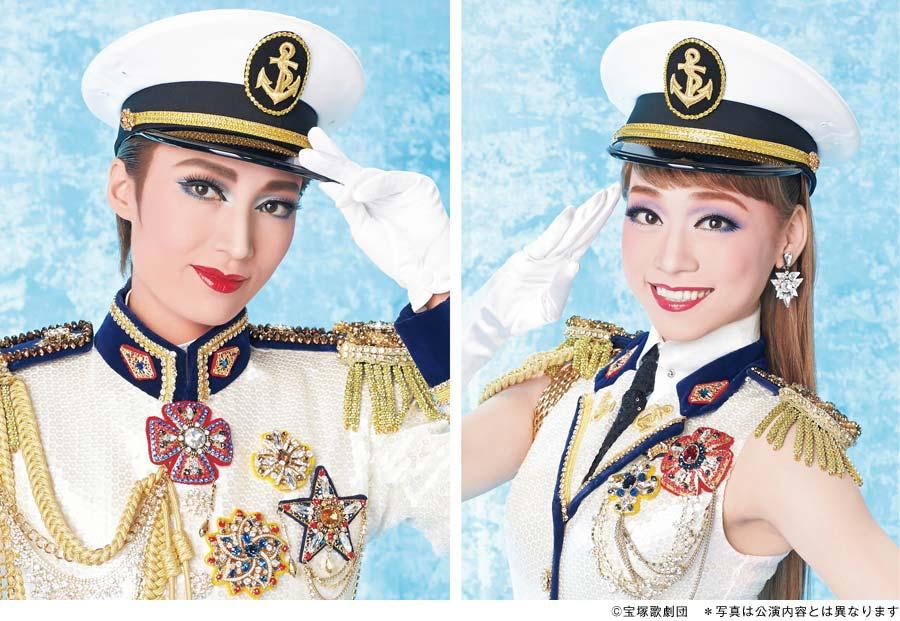 雪組トップスターの望海風斗(左)とトップ娘役・真彩希帆