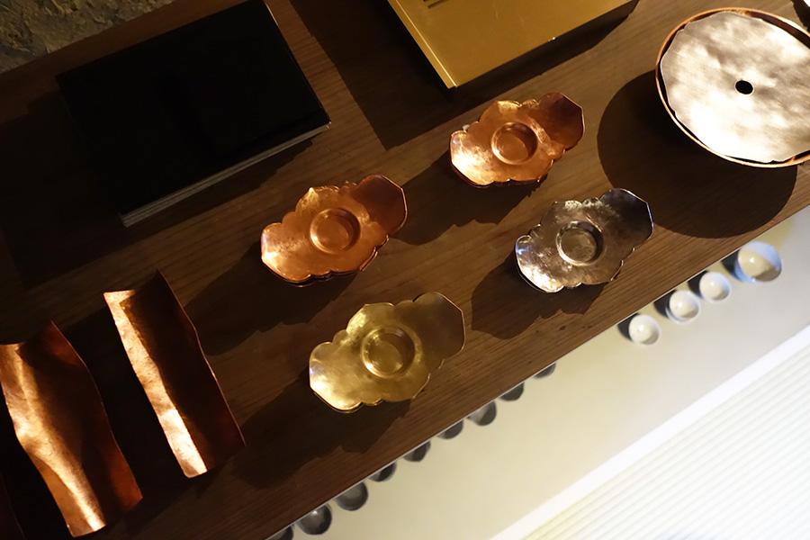 『茶道具展示會』にて、竹俣勇壱さんの茶托