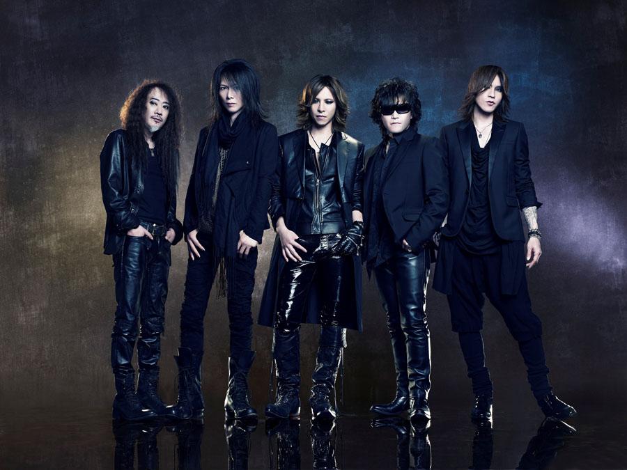 X JAPANのメンバー。左からPATA、HEATH、YOSHIKI、ToshI、SUGIZO