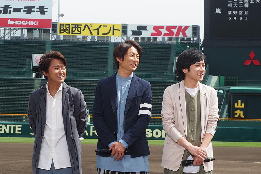 高校野球のスペシャルナビゲーターを務める相葉に、メンバー4人からそれぞれエールを送る場面も