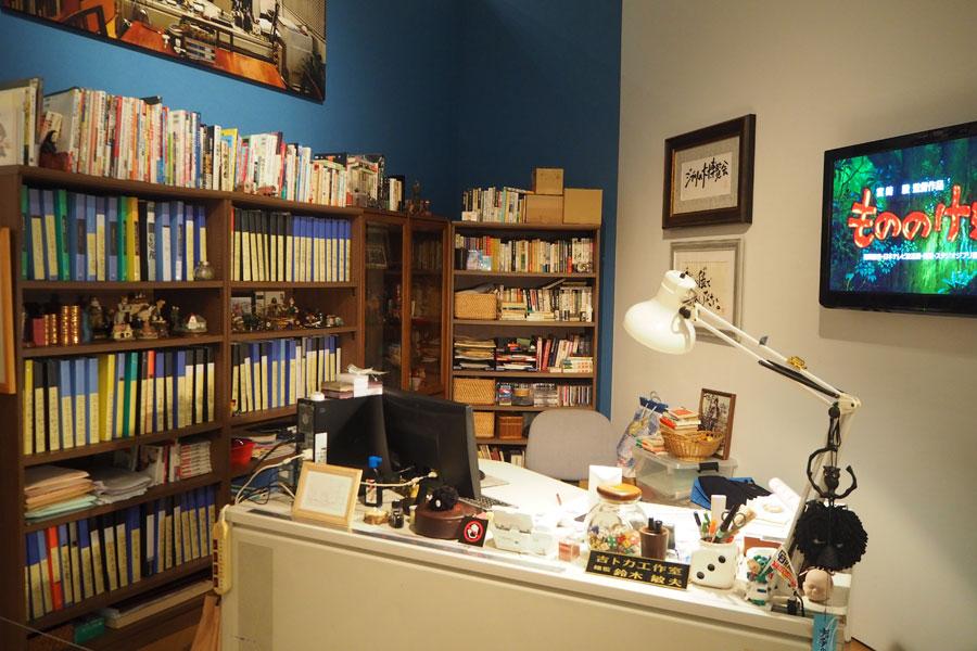 細かく再現されているという鈴木敏夫プロデューサーの部屋 (C)Studio Ghibli