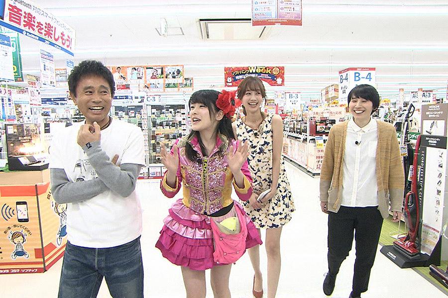 左から、浜田雅功、仮面女子・神谷えりな、高田秋、ハリセンボンのはるか © ytv