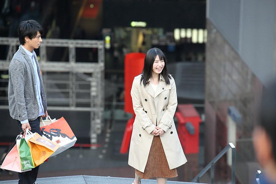ドラマの撮影はJR京都駅の大階段でもおこなわれた(撮影風景)