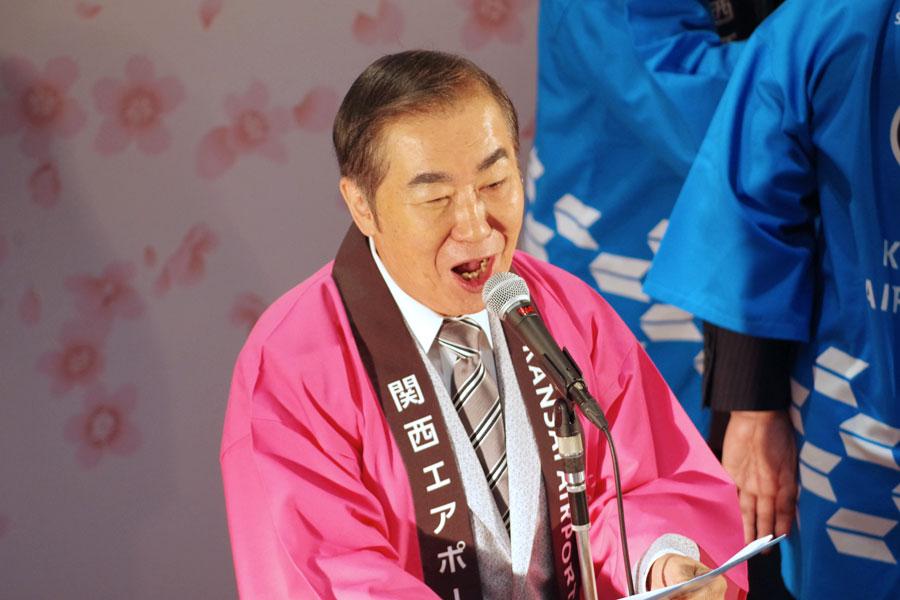 昨秋、大阪府の松井知事から「大阪いらしゃい大使」の任命を受けた桂文枝