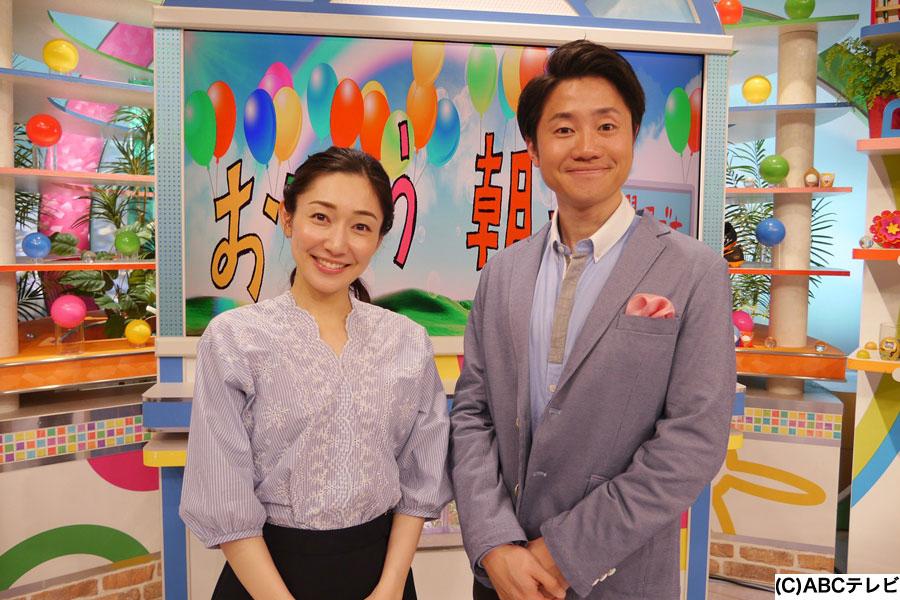 (左から)八塚彩美アナウンサー、北村真平アナウンサー