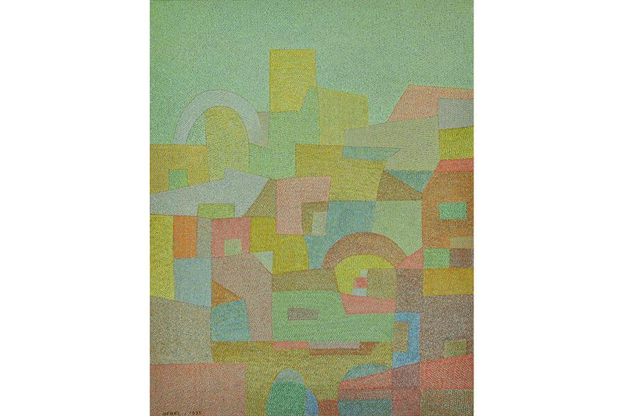 オットー・ネーベル《地中海から(南国)》 1935年 水彩・紙 厚紙に貼付 オットー・ネーベル財団