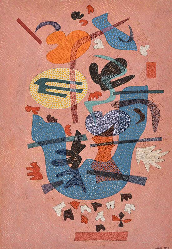 オットー・ネーベル《叙情的な答え》 1940年 テンペラ・紙 オットー・ネーベル財団