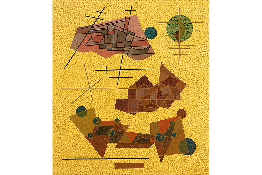 オットー・ネーベル《輝く黄色の出来事》 1937年 油彩・キャンバス オットー・ネーベル財団