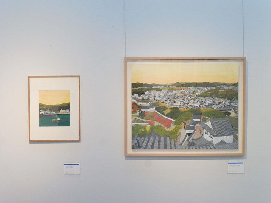 左:《夕焼けの家島》 2014年 兵庫県姫路市 右:《ばんしゅうの夕焼け》 2012年 兵庫県姫路市