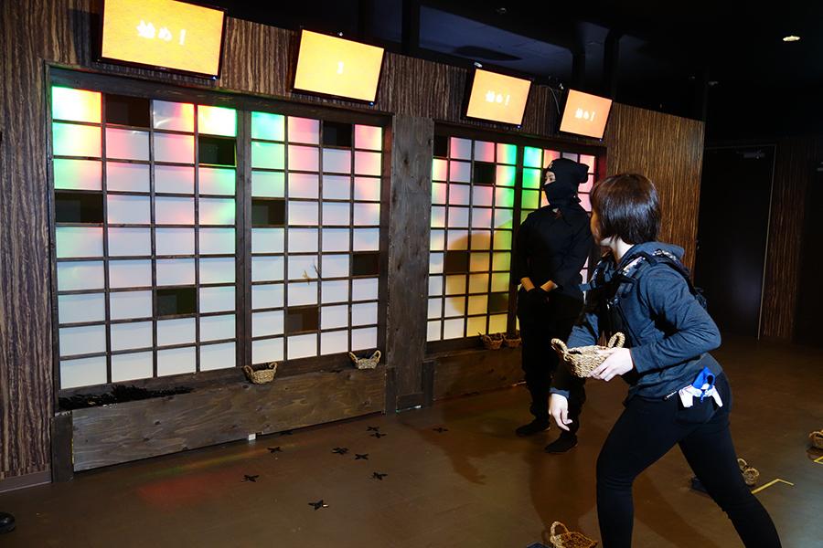 忍者タウン内の「忍塾」では、点数を稼ぎながらミッションをクリアしていく