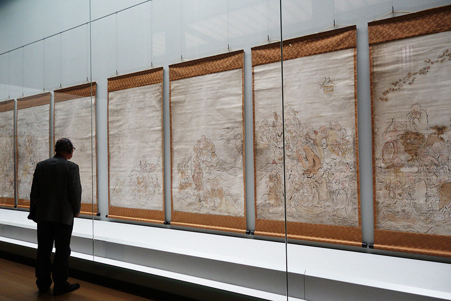 重要文化財「五百羅漢図は指やこよりで描いた作品