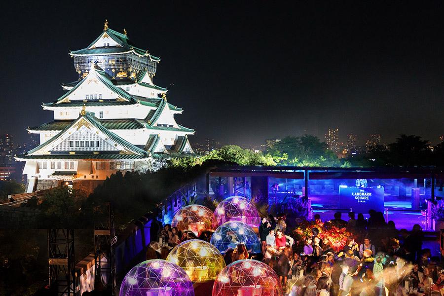 大阪城天守閣をバックに開催される『COOOOL! JAPAN DISCO』(イメージ)