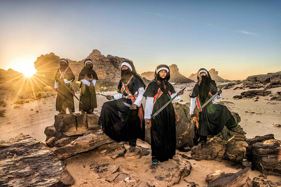 トゥアレグ族を撮影した《Indigo of Desert》
