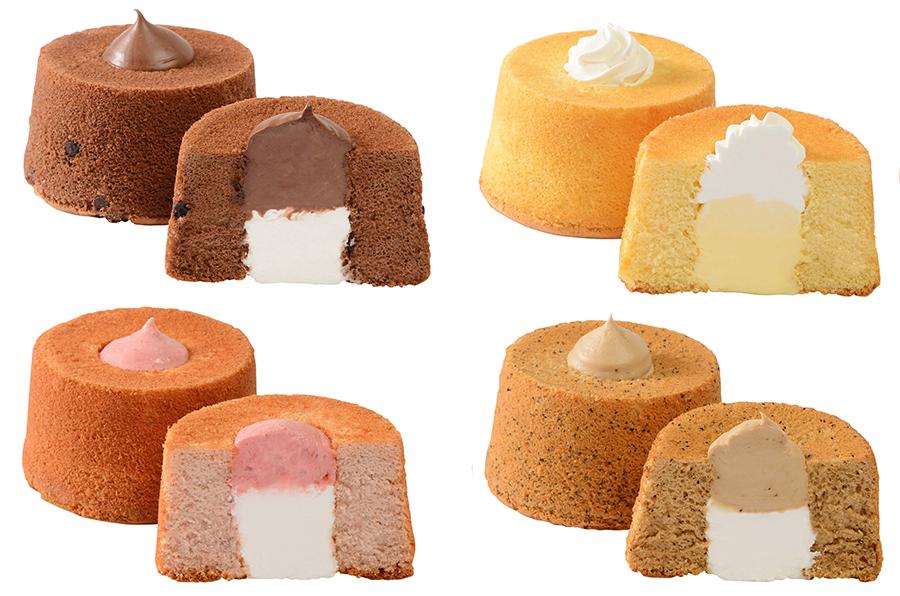 一つずつクリームも異なり、いちご'クリーム497円には、あまおうを使用したクリームとホイップクリームを組み合わせ