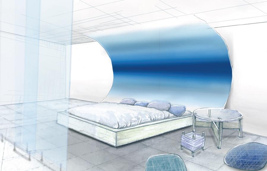 『絹』の部屋のイメージ図