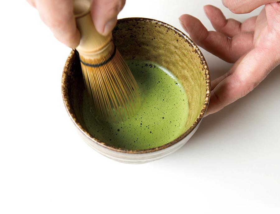 1杯ずつ点てる抹茶は3種類、600円(税別)〜