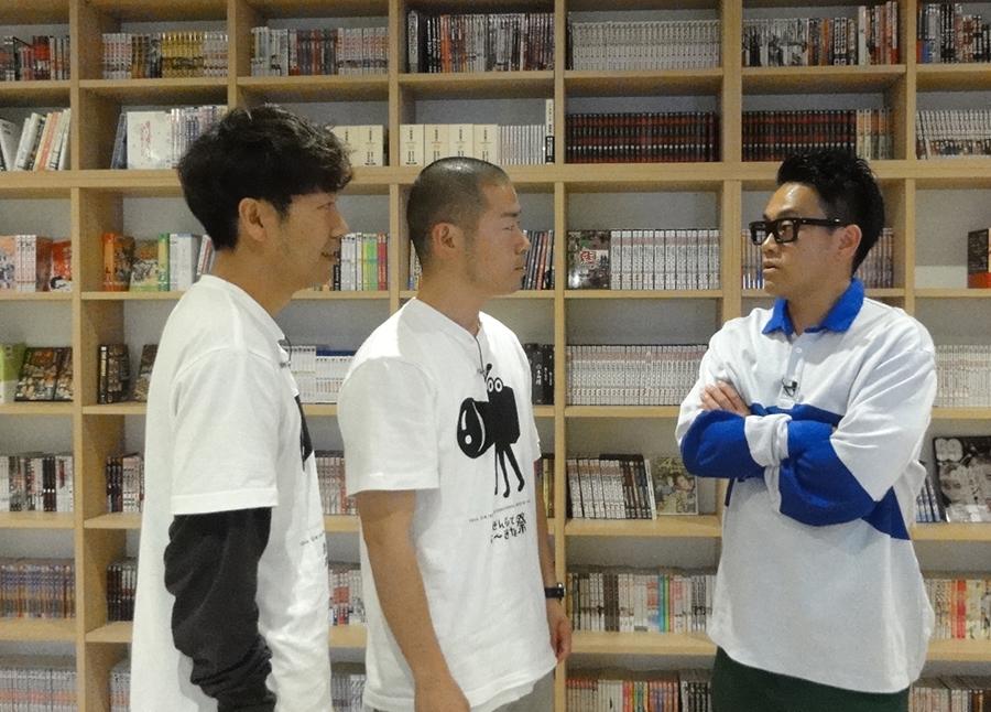 勝負ごとには本気で挑む宮川大輔(左)とアキナ