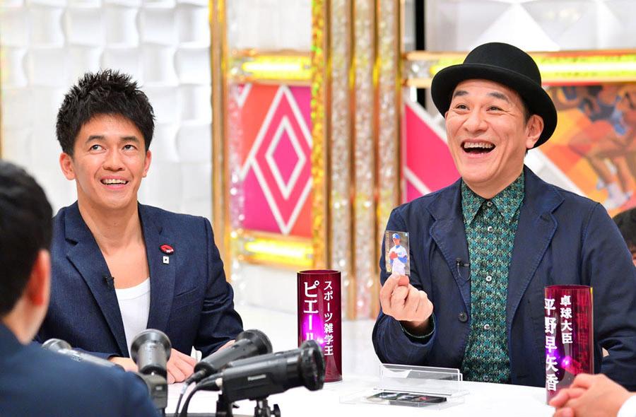 スポーツ番組のメインMCをつとめる武井壮(左)と、それを見出した男・ピエール瀧