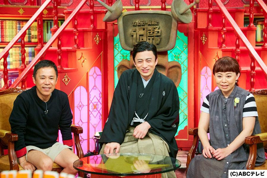 地方公演で1カ月間のホテル暮らしになると「TVを見ながらダラダラ過ごしてると、夜はテレビショッピングしかない」と語る松本幸四郎(真ん中)