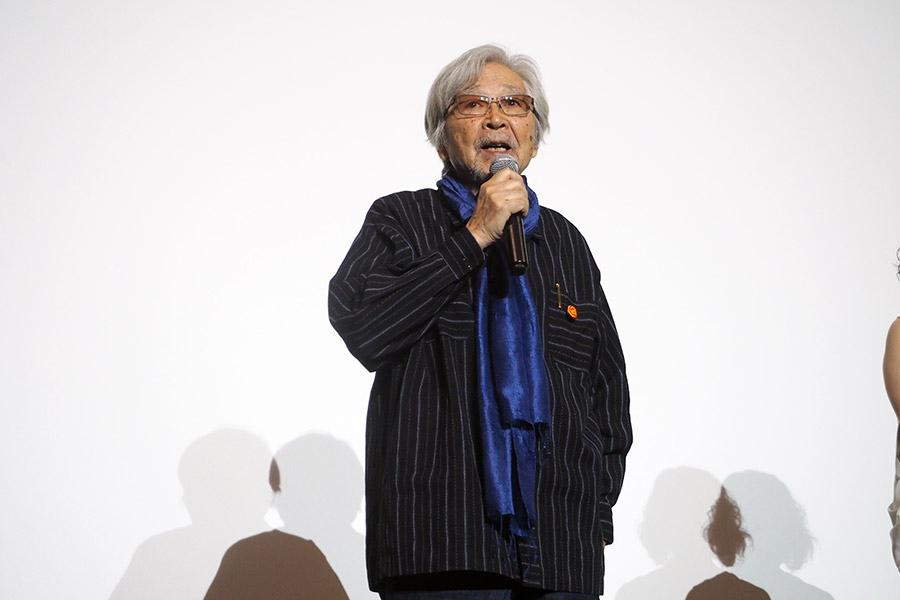 「大声をあげて笑いながら、観ていただきたい」と語った山田洋次監督(10日・大阪市内)