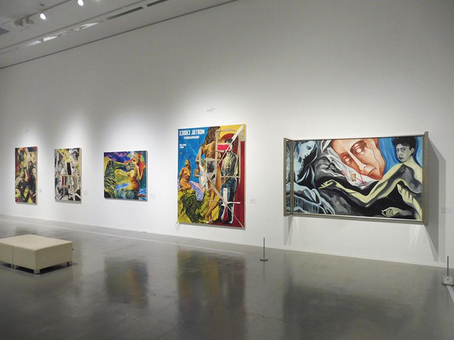 右から《Greco's Madonna》1985年、《人生の選択(当惑)》1987年、《ある呪文》1987年、《非同時性》 1987年、《ペインティングの証明はペインティングにあり》 1988年