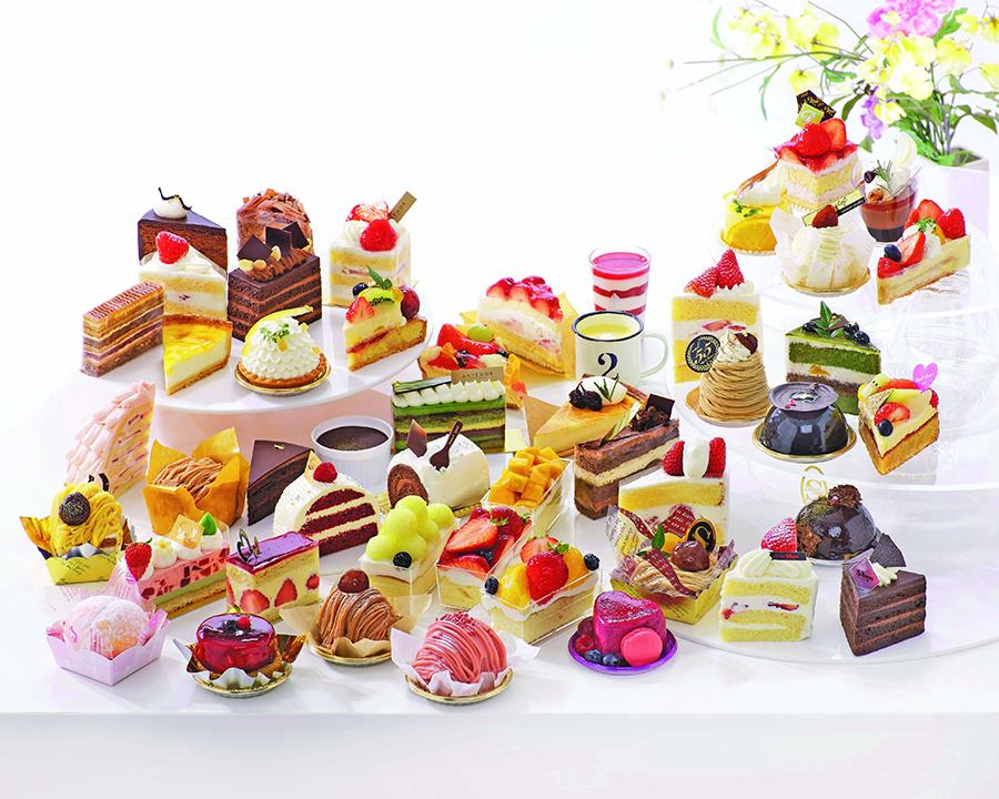 人気の洋菓子店から好きな2種を選べるイートインコーナー(イメージ)