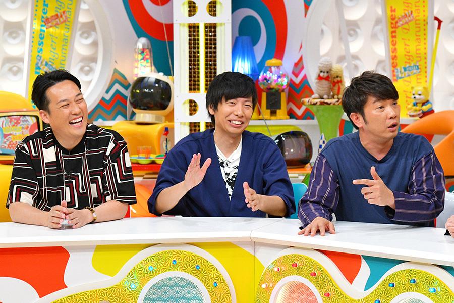 左から、藤崎マーケット・田崎、トキ、TKO木本