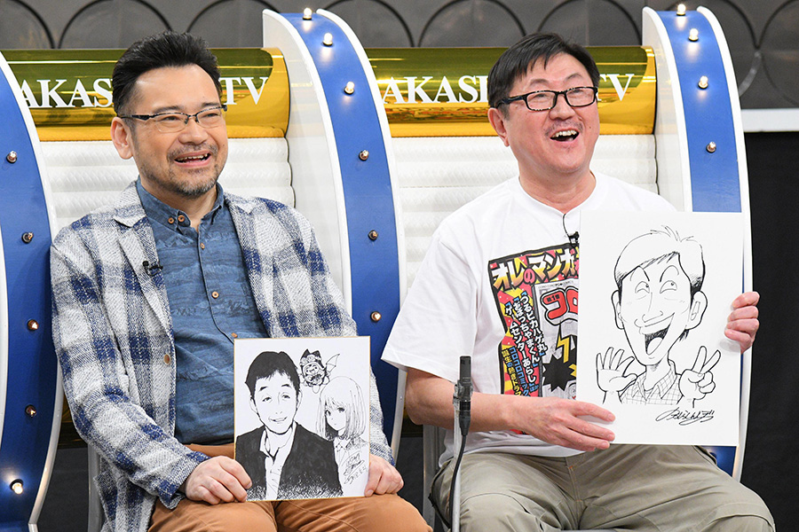 江川達也はアニメ風、のむらしんぼも、さんまの特徴をよくつかんでいる 写真提供:MBS