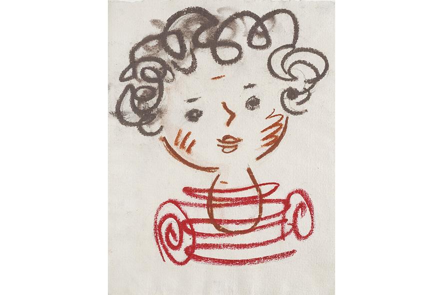 ヨゼフ・チャペック《子どもの頭部》1930年 パステル、紙 個人蔵、プラハ