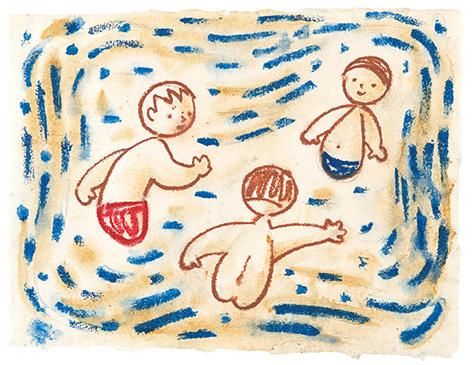 ヨゼフ・チャペック《水浴び》1928-1935年 パステル、紙 個人蔵、プラハ
