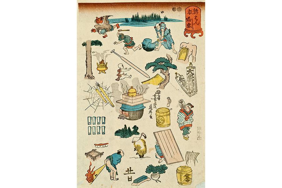 一猛斎(歌川)芳虎 新板はんじ物 虫 嘉永2〜3年(1849〜50) 版元:伊勢屋忠介