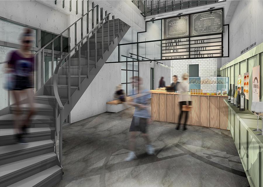 1・2階にはベトナム料理店「SOBER TIGER BANH MI STAND AND BAR」がオープン(イメージ図)