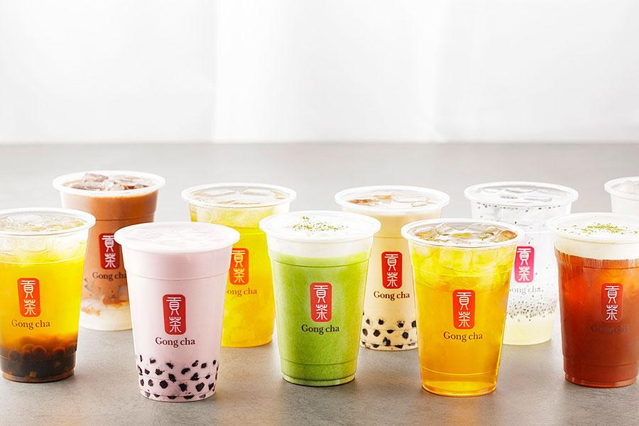 ジャスミンティー、ウーロンティーなど4種類の台湾茶をベースに、自分好みにカスタマイズできる