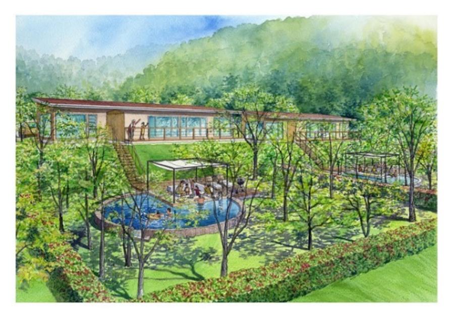 「マリントピア・ザ・スイート」のイメージ図、ガーデンも広々