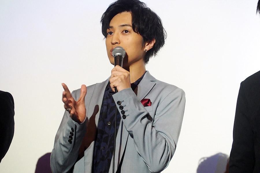 映画『劇場版 ドルメンX』の舞台挨拶に登場した桐山漣(16日・大阪市内)