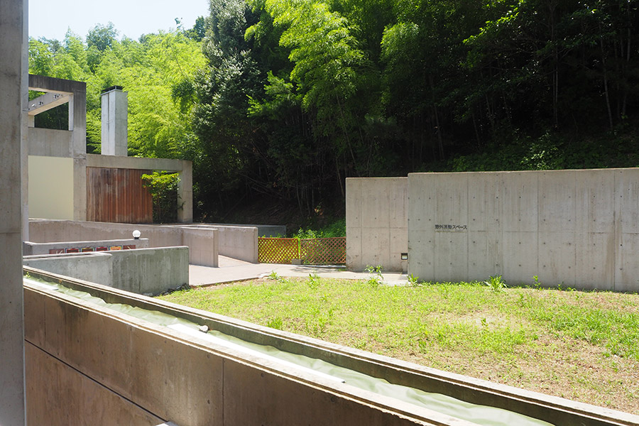 ホテル裏側のスペースでは、今後ワークショップなども予定(京都府城陽市)