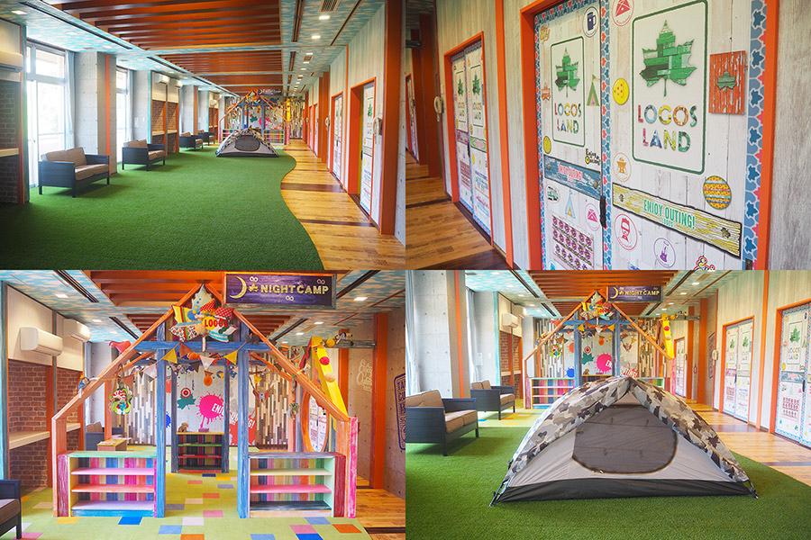 素泊まり用のフリースペース、昼間は子どもが遊べるキッズスペースとなる(京都府城陽市)