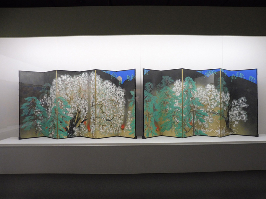 《夜桜》 昭和4年(1929)11月 大倉集古館 展示期間:前期(6/8〜7/1)