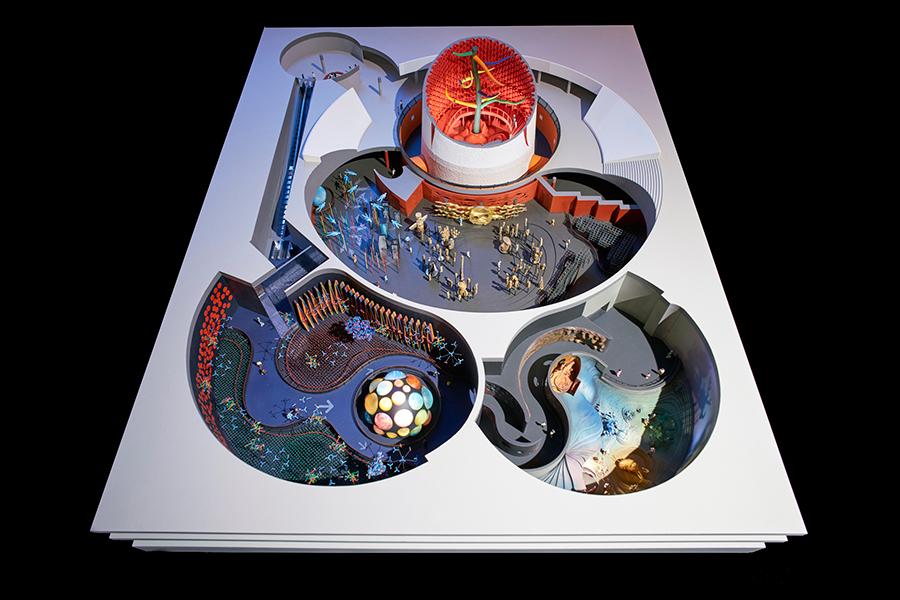 地下展示全体模型 岡本太郎記念財団蔵