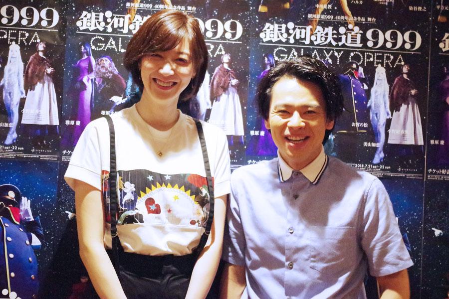 左から凰稀かなめ、中川晃教。同じ年ということもあり、2人は仲が良い