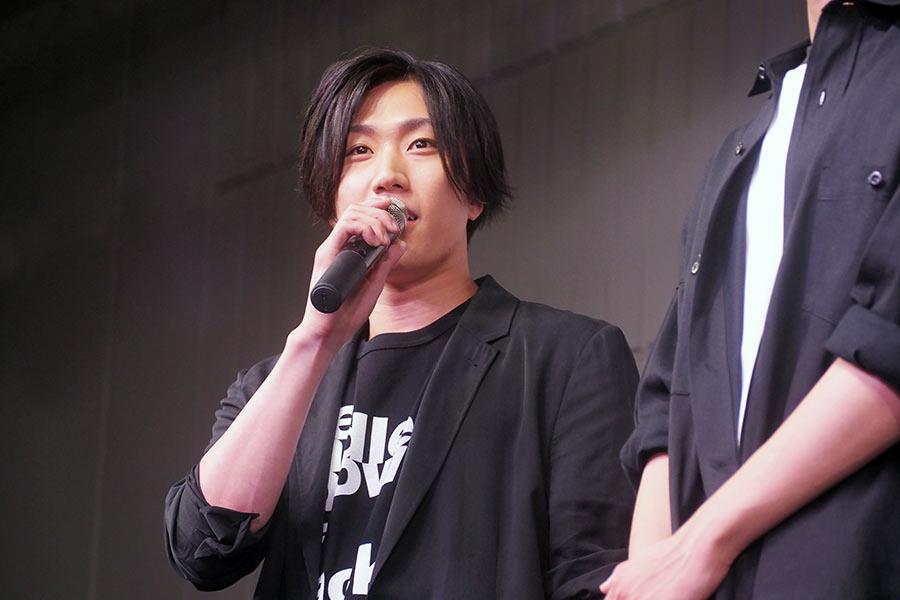 映画『BLEACH』のトークショーに登場した早乙女太一(5日・大阪市内)