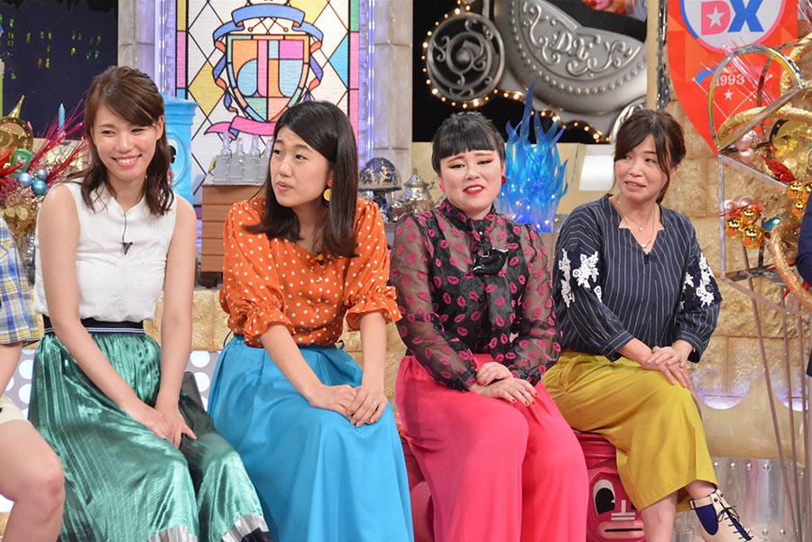 左から、紺野ぶるま、横澤夏子、ブルゾンちえみ、大久保佳代子 © ytv