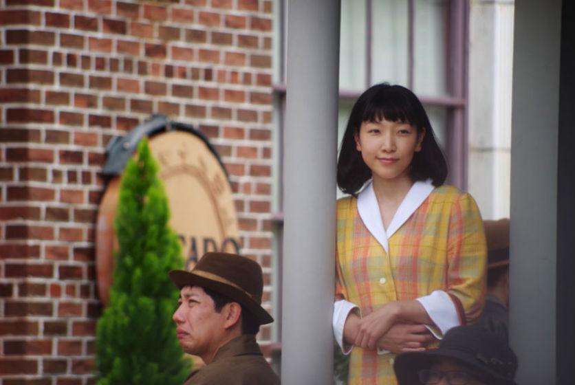 ヒロイン・福子役の安藤。撮影時は、女学校卒業後すぐで18歳の設定