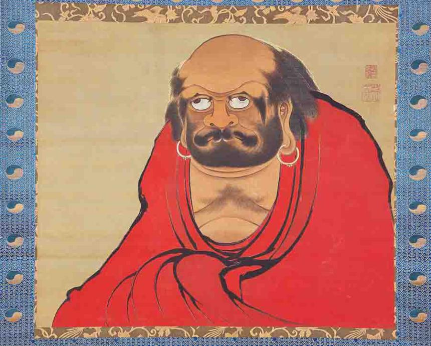 伊藤若冲筆 達磨図 江戸時代 18世紀 絹本著色 MIHO MUSEUM蔵 ※赤い作品